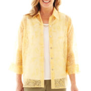 Alfred Dunner® Call of the Wild Burnout Layered Shirt
