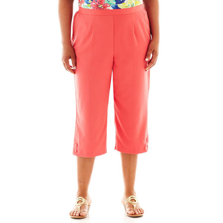 Alfred Dunner St. Tropez Button-Cuff Pull-On Capris - Plus