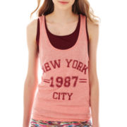 Almost Famous Sleeveless Muscle Racerback Tank Top with Bralette