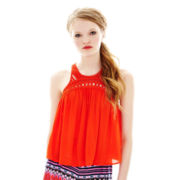 L'Amour by Nanette Lepore Sleeveless Crochet Top