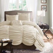 Madison Park Newport 4-pc. Ruched Duvet Cover Set