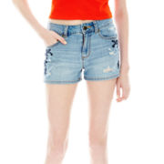 L'Amour by Nanette Lepore Embroidered High-Waist Shorts