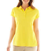 Liz Claiborne Short-Sleeve Polo Shirt - Tall