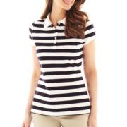 Liz Claiborne Short-Sleeve Polo Shirt - Tall