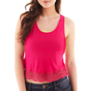 Arizona Sleeveless Crochet-Hem Crop Top