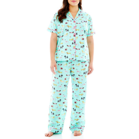 Insomniax Short-Sleeve Shirt and Pants Pajama Set - Plus
