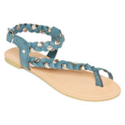 Mixit™ Asymmetrical Toe-Loop Sandals