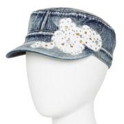 Mixit™ Stud Flower Denim Cadet Hat
