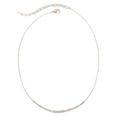 jcpenney.com | Vieste® Rhinestone Curved Bar Necklace