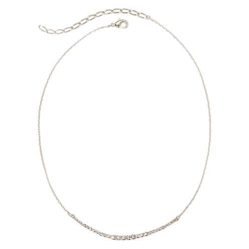 Vieste® Rhinestone Curved Bar Necklace