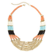 Decree® Multicolor Wood Bead 4-Layer Necklace