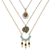Decree® Tribal-Theme 3-pc. Layered Necklace Set