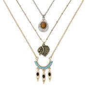 Decree® Tribal-Theme 3-pc. Layered Necklace Set