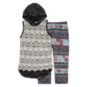 Knit Works Crochet Hoodie and Leggings - Girls 7-16 and Plus