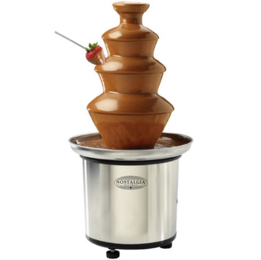 jcpenney.com | Nostalgia CFF986 4-Tier 2-Pound Capacity StainlessSteel Chocolate Fondue Fountain