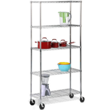 jcpenney.com | Honey-Can-Do® 5-Tier Shelving Unit with Casters