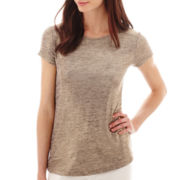 Liz Claiborne® Short-Sleeve Knit T-Shirt