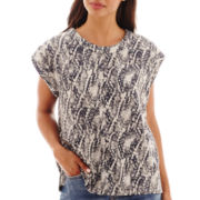 MNG by Mango® Short-Sleeve Snakeskin Print Blouse