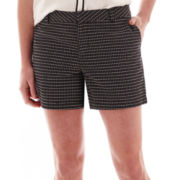 Liz Claiborne® Cotton Dobby Shorts - Tall