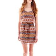 City Triangles® Sleeveless Chiffon Belted Dress