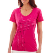 Made For Life™ Short-Sleeve Sporty Graphic T-Shirt - Petite