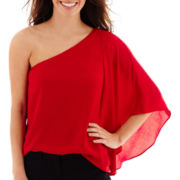 Worthington® Long-Sleeve One-Shoulder Blouse