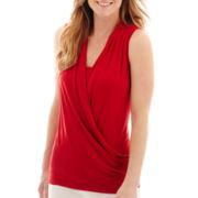 Liz Claiborne® Faux-Wrap Tank Top