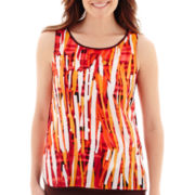 Liz Claiborne® Woven Print Tank Top - Tall