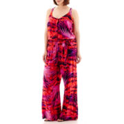 a.n.a® Sleeveless Wide-Leg Palazzo Jumpsuit - Plus