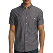 Arizona Short-Sleeve Solid Chambray Shirt