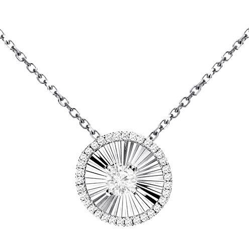 1/5 Diamond 14K White Gold Pendant