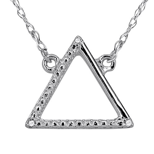 Diamond Accent 14K White Gold Necklace