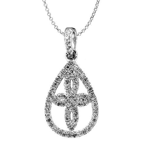 1/10 Diamond 14K White Gold Pendant