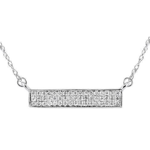 1/10 Diamond 14K White Gold Necklace