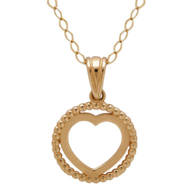 jcpenney.com | Infinite Gold™ 14K Yellow Gold Circle Heart Pendant Necklace