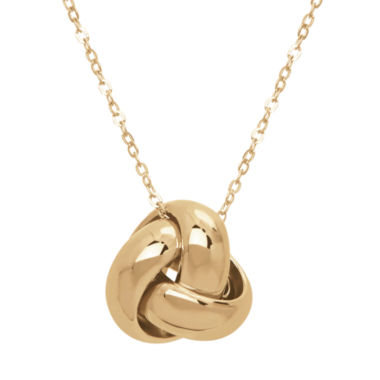 jcpenney.com | Infinite Gold™ 14K Yellow Gold Knot Pendant Necklace