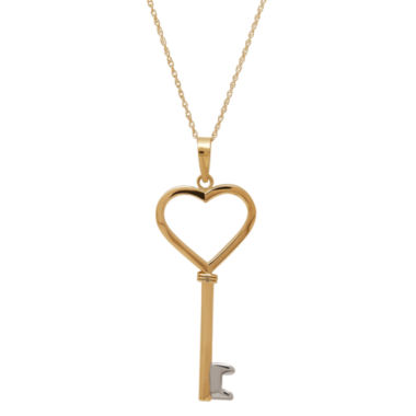 jcpenney.com | Infinite Gold™ 14K Yellow Gold Key Pendant Necklace