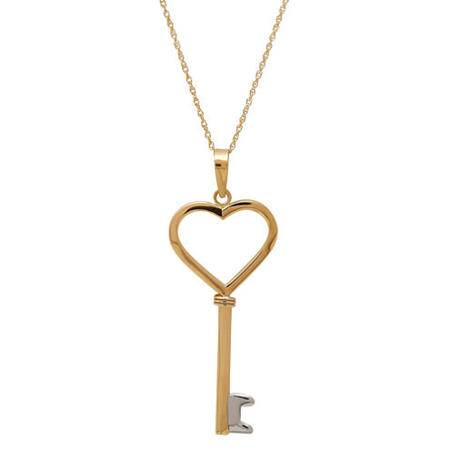 Infinite Gold™ 14K Yellow Gold Key Pendant Necklace