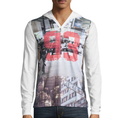 jcpenney.com | i jeans by Buffalo Long-Sleeve Hooded Catisso Tee