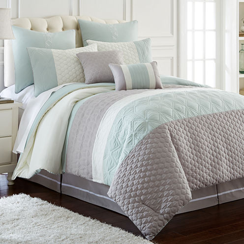8-pc.Embroidered Comforter Set Palisades