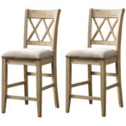 Signature Design by Ashley® Mestler Set of 2 Upholstered Barstools