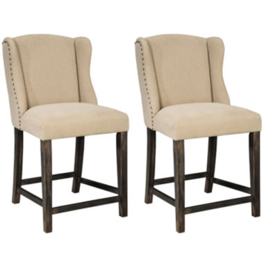 jcpenney.com | Signature Design by Ashley® Moriann Upholstered Set of 2 Barstools