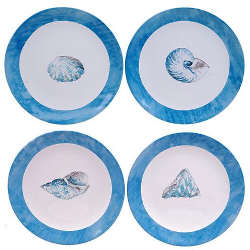Certified International Sea Finds Set of 4 Dessert Plates