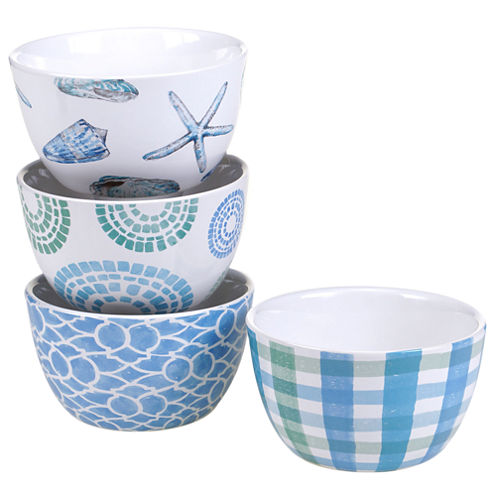 Certified International Sea Finds Set of 4 Ice Cream Bowls