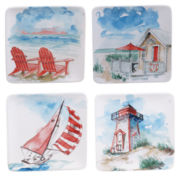 Certified International In the Moment Set of 4 Dessert Plates