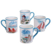 Certified International In The Moment Set of 4 Mugs