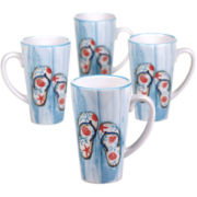 Certified International In The Moment Set of 4 Latte Mugs
