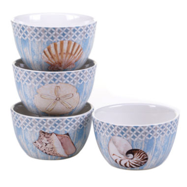 jcpenney.com | Certified International Spa Shells Set of 4 Ice Cream Bowls