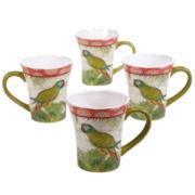 Certified International Tropics Set of 4 Mugs