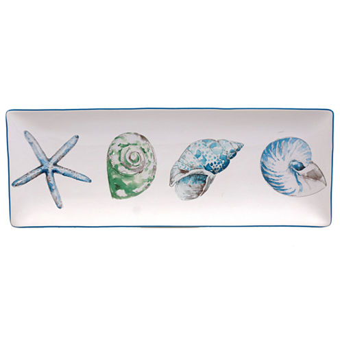 Certified International Sea Finds Rectangular Platter